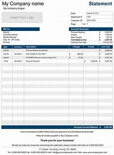 Account Template Printable Account Statement Template For Excel