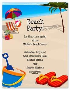 Beach Party Invitation Wording Beach Party Invitation Templates Free In 2019 Beach