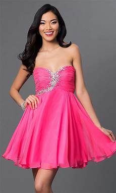 rhinestone embellished pink dress promgirl