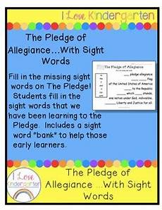 Another Word For Pledge The Pledge Of Allegiance With Sight Words By
