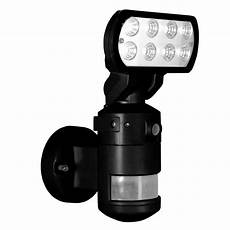 Led Flood Light With Camera Nightwatcher Security 220 Degree Outdoor Black Motorized