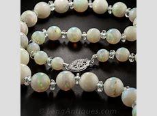 Vintage Opal Bead Necklace