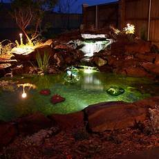 Solar Waterfall Lights Algreen Pond Kit Pond Lights Ponds Backyard Pond Kits