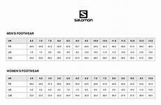 Salomon Boot Size Chart Size Chart Gt Sportsexperts Lebanon