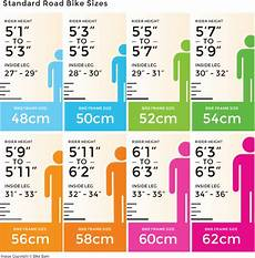 Bike Size Chart By Height Bicycle Guide Guide To Choosing A Bicycle