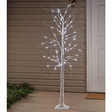 6 Ft Lighted Twig Tree Holiday Peak Holiday Peak Lighted White Birch Tree 6 Foot