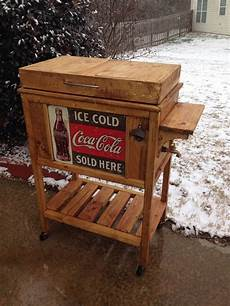 diy wooden cooler stand vintage look do it yourself