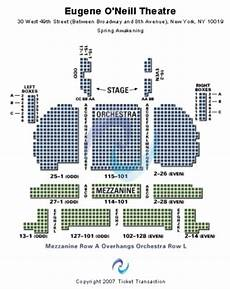 Seating Chart Eugene O Neill Theatre Eugene O Neill Theatre Tickets In New York Seating Charts