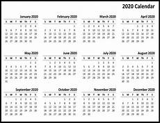 online printable calendar 2020 free printable 2020 calendar one page template