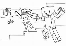 minecraft 4 ausmalbilder malvorlagen