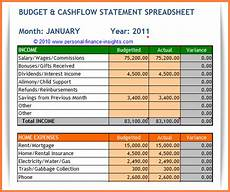 Cash Flow Budget 5 Household Cash Flow Spreadsheet Excel Spreadsheets Group