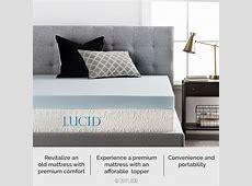 """Lucid 4"""" Memory Foam Mattress Topper & Reviews   Wayfair"""