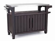 outdoor resin bbq serving station barbecue cart cabinet