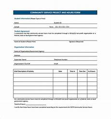 Community Service Template Free 13 Sample Service Hour Forms In Pdf Ms Word