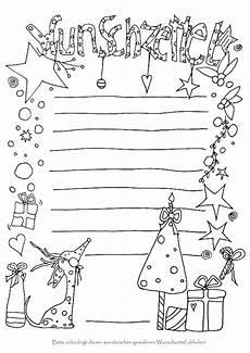 wunschzettel zum anmalen wunschliste weihnachten