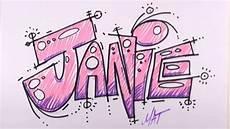 Cool Designs With Names Graffiti Writing Janie Name Design 24 In 50 Names