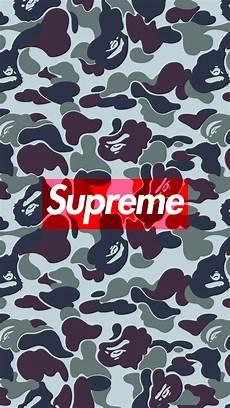 Wallpaper Iphone 6 Supreme by Bape Camo Supreme Iphone Wallpaper Hd