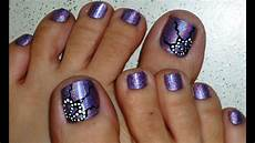 Toenail Design Butterfly Wings Holographic Toe Nail Design Youtube