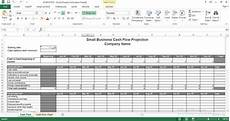 Sample Cash Flow Projection For Small Business Small Business Cash Flow Projection