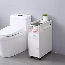 narrow cabinet shelf drawer bath toilet bathroom storage