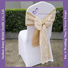 c388d wedding decoration burlap ivory lace chair covers