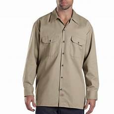dickies sleeve work shirts for dickies s large khaki sleeve work shirt 574kh