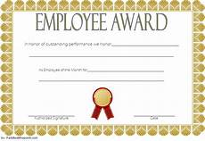 Employee Award Templates Free Best Employee Certificate Template 10 Gorgeous Designs Free