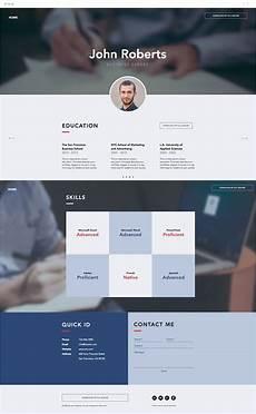 Website Cv 7 Polished Resume Website Templates For All Professionals