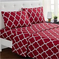 mellanni bed sheet set calking brushed microfiber