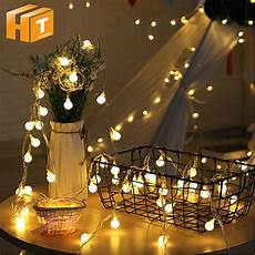 Warm White Christmas Lights Outdoor Hoilday Lighting Warm White Fairy Garland Led Ball String