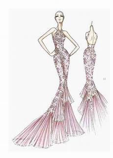 Dress Designing Sketches Edith Saylor Style Exclusive Sketches From The Versace