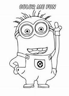 printable the minions dave coloring page for free