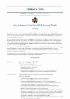 Dental Hygienist Resume Dental Hygienist Resume Samples And Templates Visualcv