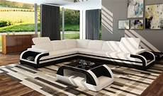 divani casa 5132c modern white black bonded leather