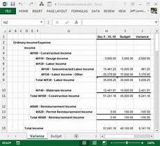 Create An Income Statement Pull Budget Values Into An Income Statement Excel University