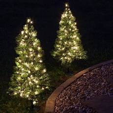 Battery Outside Christmas Tree Lights Outdoor Decorations 3 Walkway Pre Lit Winchester Fir