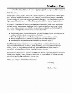 Cover Letter Design Examples Best Graphic Designer Cover Letter Examples Livecareer