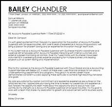 Accounts Payable Cover Letters Accounts Payable Supervisor Cover Letter Sample Livecareer