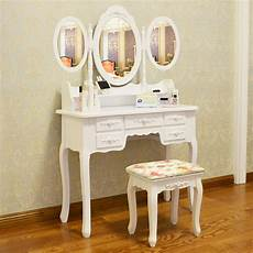 white dressing table makeup desk with stool 7 drawers and