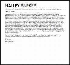 Cover Letter For Therapist Physical Therapist Cover Letter Sample Cover Letter