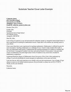 What To Say In A Cover Letter For A Resumes 26 Substitute Teacher Cover Letter Teacher Cover Letter