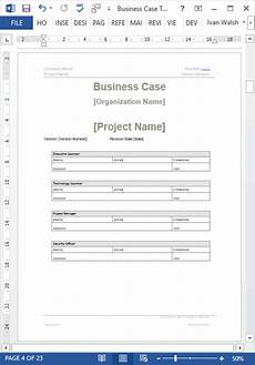 Business Process Template Word Business Case Template 22 Pages Ms Word With Free Sample