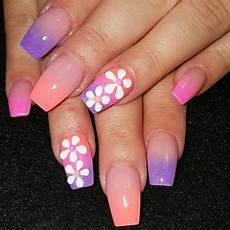 Acrylic Nails With Flower Design Acrylic Nails Spring Designs 2017