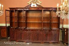large mahogany china cabinet large breakfront