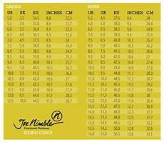 Masse Size Chart Shoe Size Chart For Men Amp Women Joe Nimble