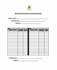 Club Sign Up Sheet Template Word Free 10 Sample School Sign Out Sheet Templates In Ms Word