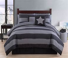 xl bedding black and gray striped comforter 8 pc