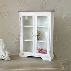white wooden glazed display cabinet melody maison 174