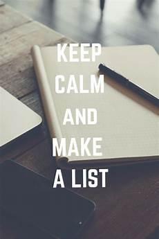 Make List Keep Calm And Make A List Diy Mama