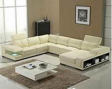 modern leather sectional sofa set 44lt132